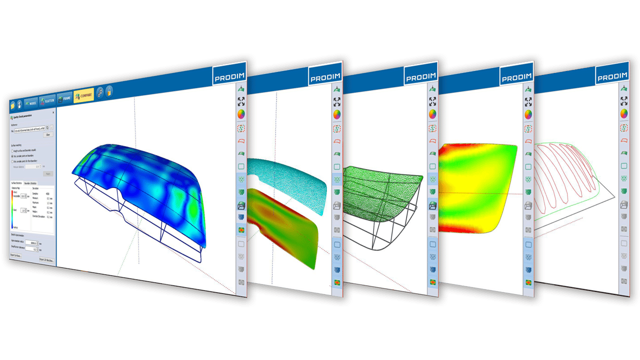 Screenshots - Prodim Bent Glass software