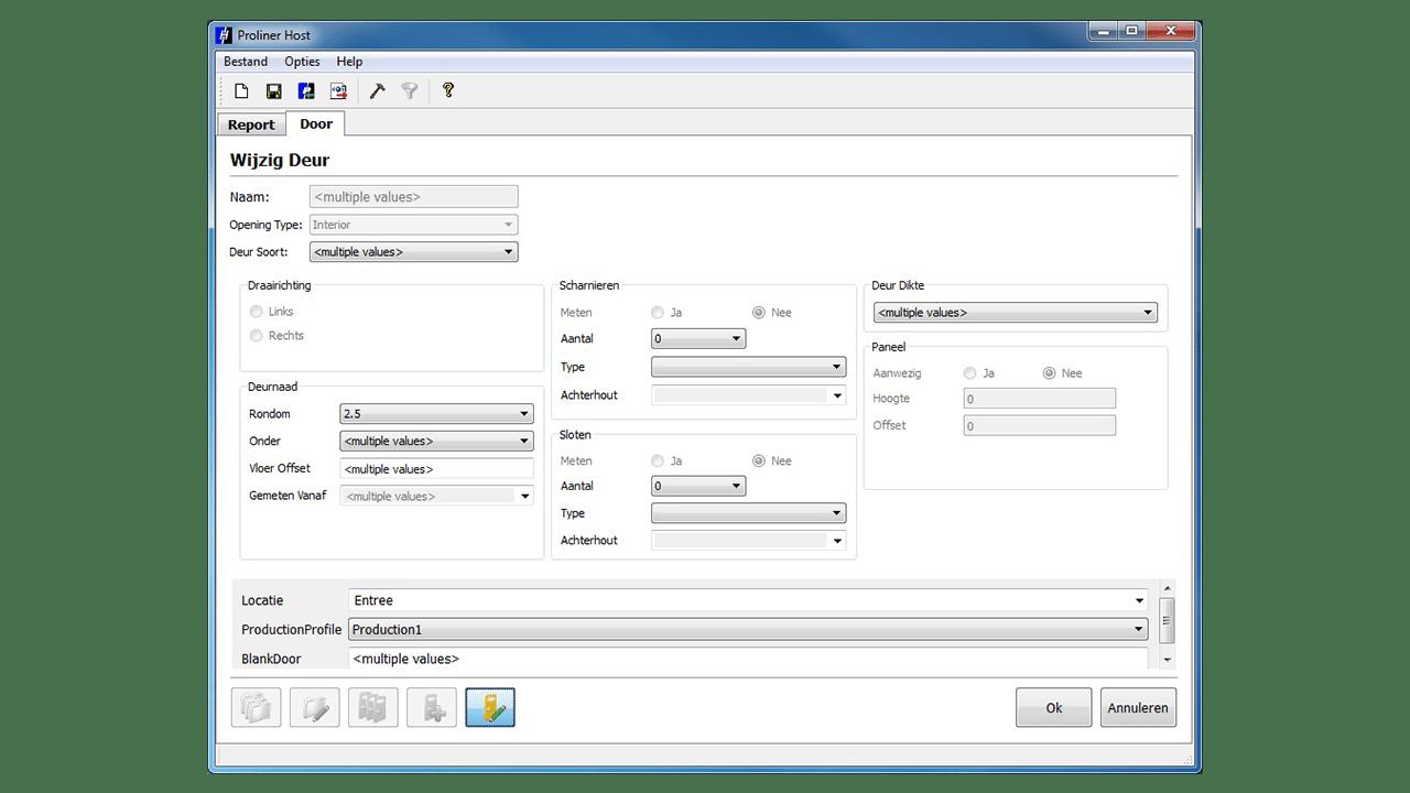 Screenshot - Prodim Proliner Programma Porte