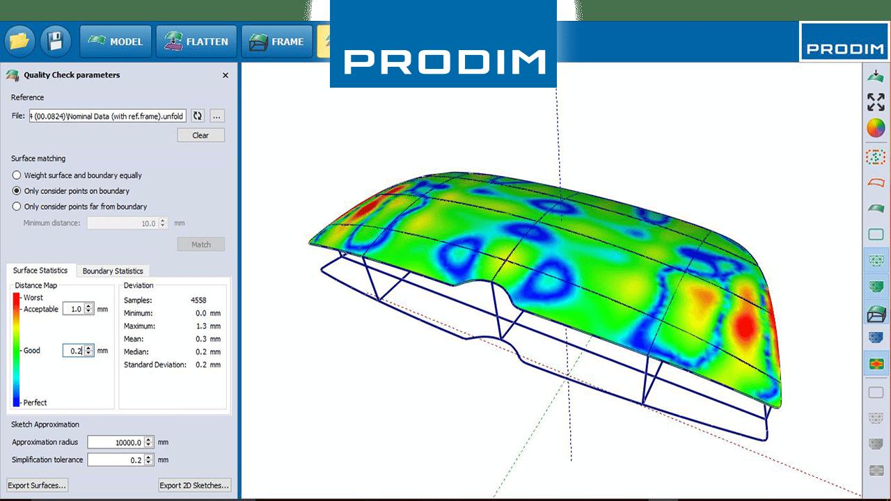 Prodim, soluzioni complete per la misurazione digitale, per specifiche applicazioni industriali - Immagine del programma Bent Glass Software