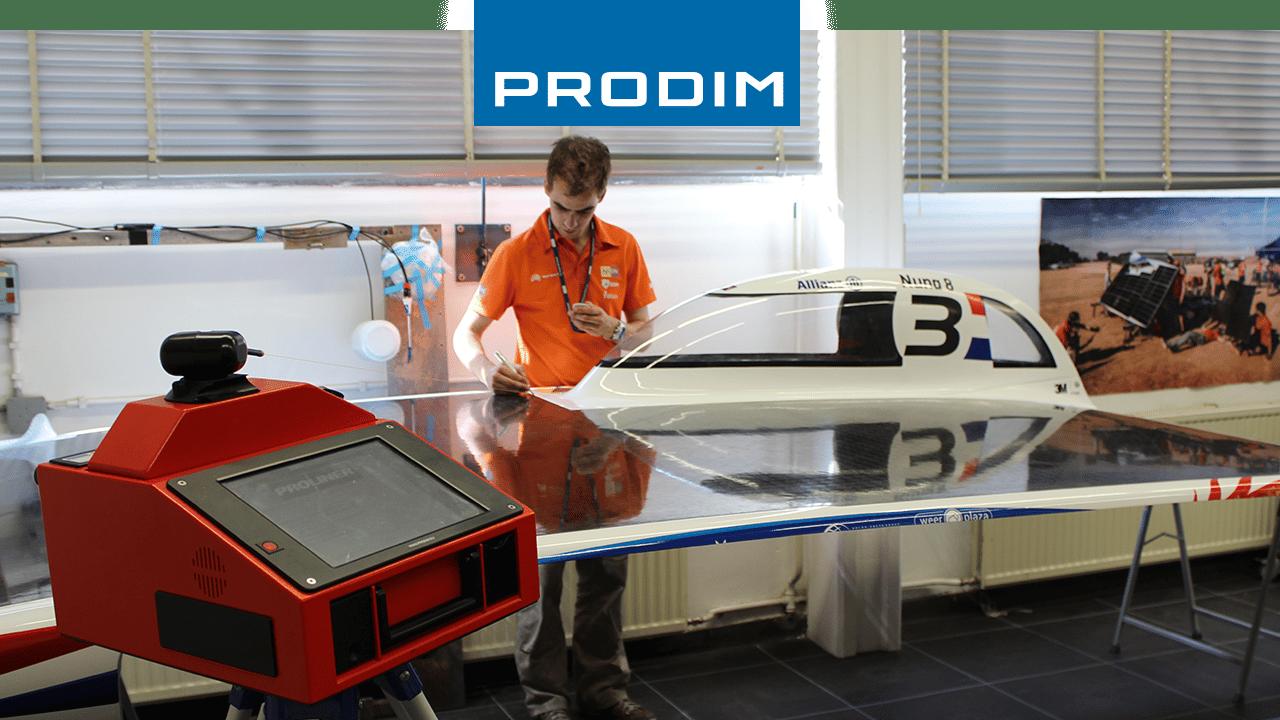 Prodim Proliner, macchinario per misurazioni digitali – Utilizzato per il controllo qualità della Nuna 8, l'automobile ad energia solare del Nuon Racing Team.