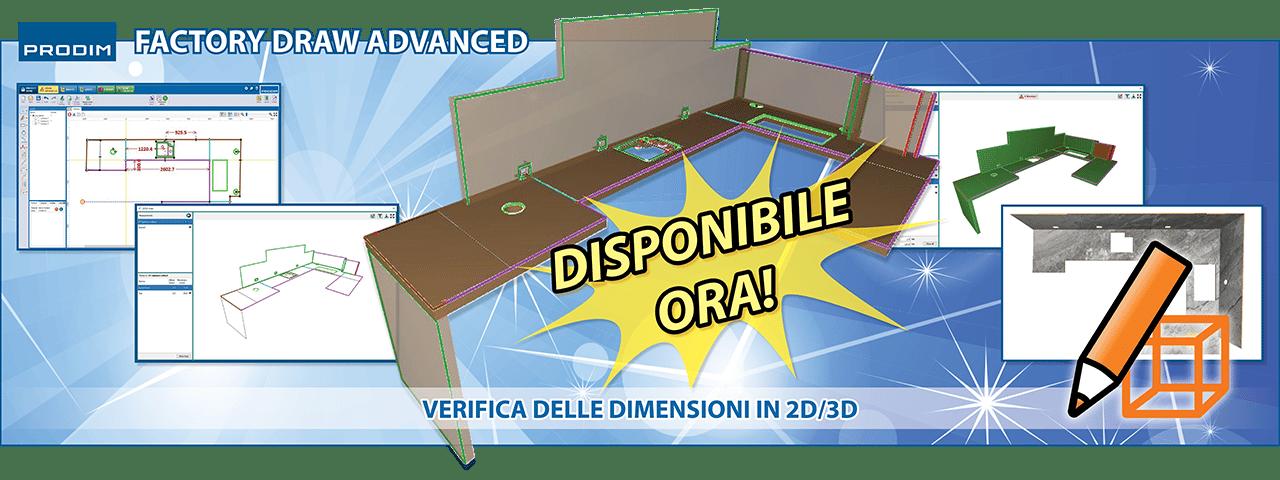 Prodim Factory Draw Advanced - Verifica delle dimensioni in 2D/3D - Guarda il video