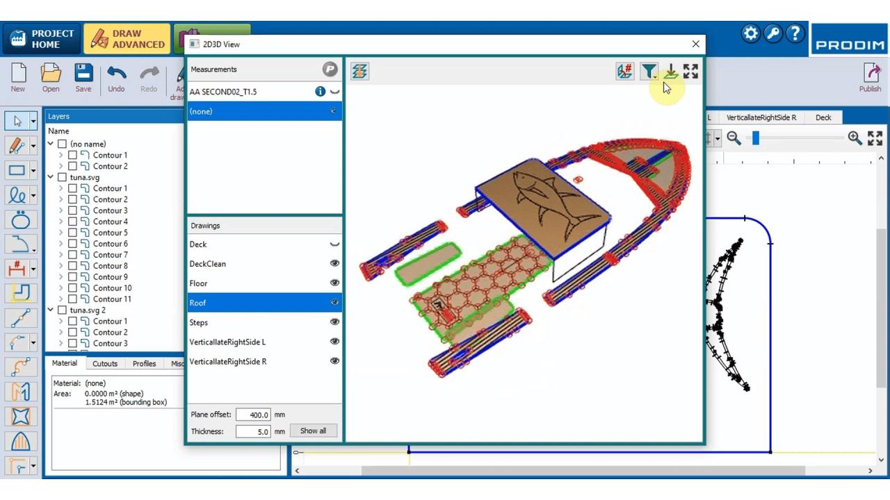 Software Prodim Factory – Creazione di modelli di ponti nautico