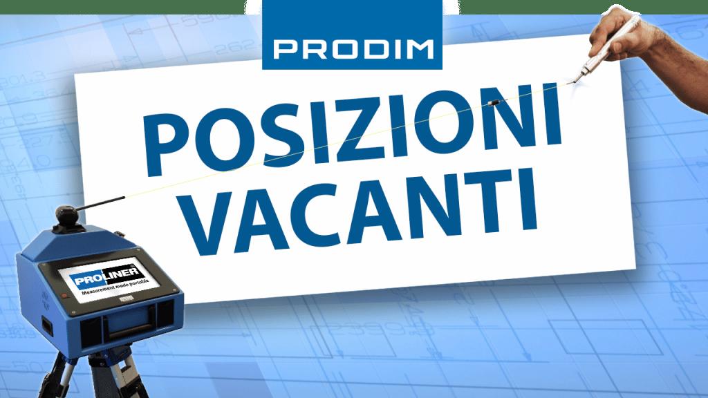 Prodim - Posizioni vacanti