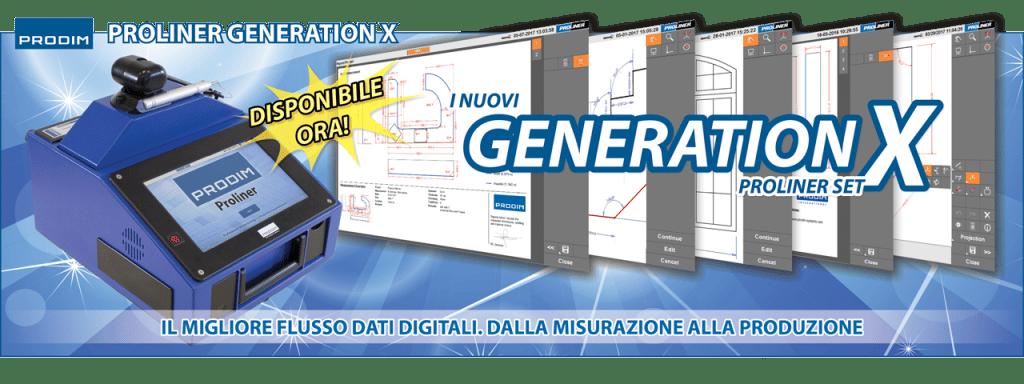 Slider - Prodim Proliner Generation X set - Il migliore flusso dati digitali. Dalla misurazione alla produzione