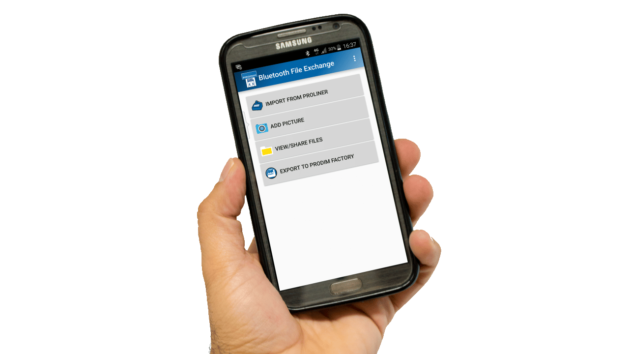Prodim - App per smartphone - File-Transfer