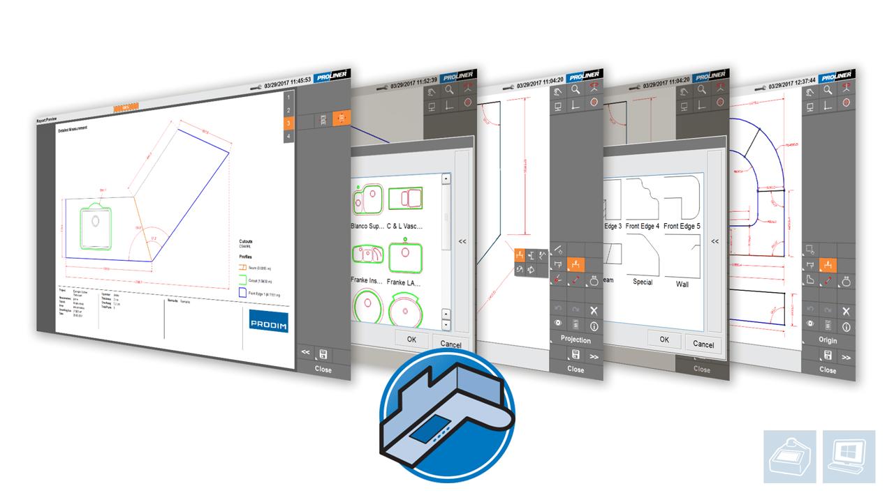 Software Proliner - Stone CT app